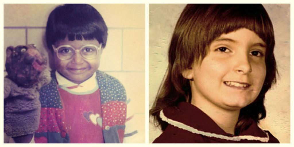Mindy Kaling Tina Fey as children